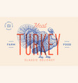 turkey template label vector image vector image