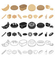 types of bread cartoon icons in set collection for vector image vector image