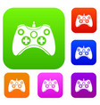 video game controller set collection vector image vector image