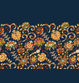 vintage flowers seamless background in provence vector image vector image