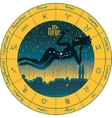 Virgo with the signs of the zodiac vector image vector image