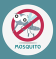 anti mosquito stop mosquito sign vector image
