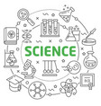 science linear vector image