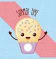 summertime ice cream cartoon vector image