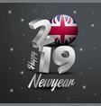 2019 happy new year united kingdom flag vector image