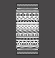 black and white tribal embroidery towel design vector image vector image