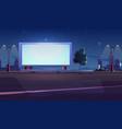 blank billboard display on roadside white screen vector image