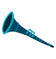 blue clarinet on white background vector image vector image