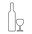 Bottle and glasse vector image vector image