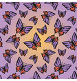 butterfly pink-purple seamless texture vector image