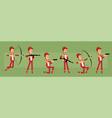 cartoon funny sportsman character big set vector image vector image