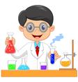 Cartoon of scientists vector image