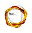 clean professional business hexagon emblem vector image