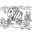 clownfish coloring pages vector image