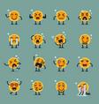 coin character emoji set vector image vector image