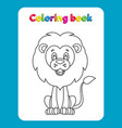 coloring book page for children with cartoon lio vector image vector image