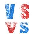 concept of rivalry in symbols vector image vector image