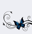 dark blue butterfly vector image vector image
