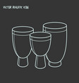 djembe icon line element of vector image