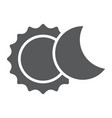 eclipse glyph icon space and astronomy solar vector image vector image