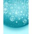 elegant christmas snowflakes vector image vector image