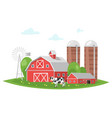 farm building - rural barn vector image vector image