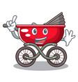 finger modern baby stroller isolated against vector image