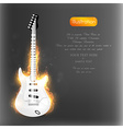 Flaming Guitar with Text Space vector image