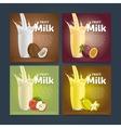 Fruit mix sweet milkshake dessert cocktail vector image vector image