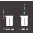 Garbage sticker vector image vector image
