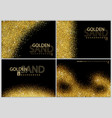 golden sand on black background vector image vector image