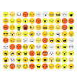 Great set of 99 color emotion isolated on white vector image vector image