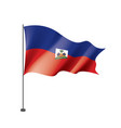 haiti flag on a white vector image vector image