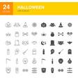 halloween line web glyph icons vector image vector image