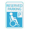 Handicap or wheelchair person icon sign reserved