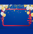 happy birthday background with set of gold white vector image
