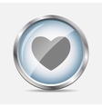 Heart Glossy Icon vector image vector image