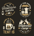 home is where you tent is happy camper vector image vector image