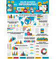 infographic online business and web marketing vector image vector image