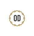 initial letter od elegance creative logo vector image vector image