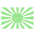 japanese rising sun mosaic of dots vector image