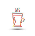 latte line icon hot coffee or tea sign vector image vector image