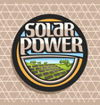 logo for solar power vector image vector image