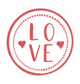 love stamp cards - handmade calligraphy scalable vector image vector image