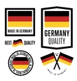 Made in Germany label set national flag vector image vector image