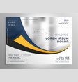 modern business presentation brochure flyer design vector image vector image