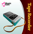 Music tape recorder vector image