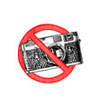 no photos sign vector image vector image
