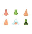 nose icon set cartoon style vector image