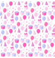 party seamless pattern with ballonsgift boxhat vector image vector image